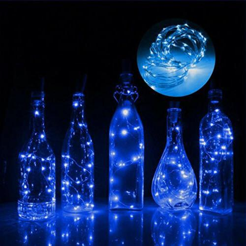 LED Solar Wine Light Wire String Fairy Party
