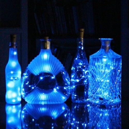 LED Wine Light Cork Wire String Party