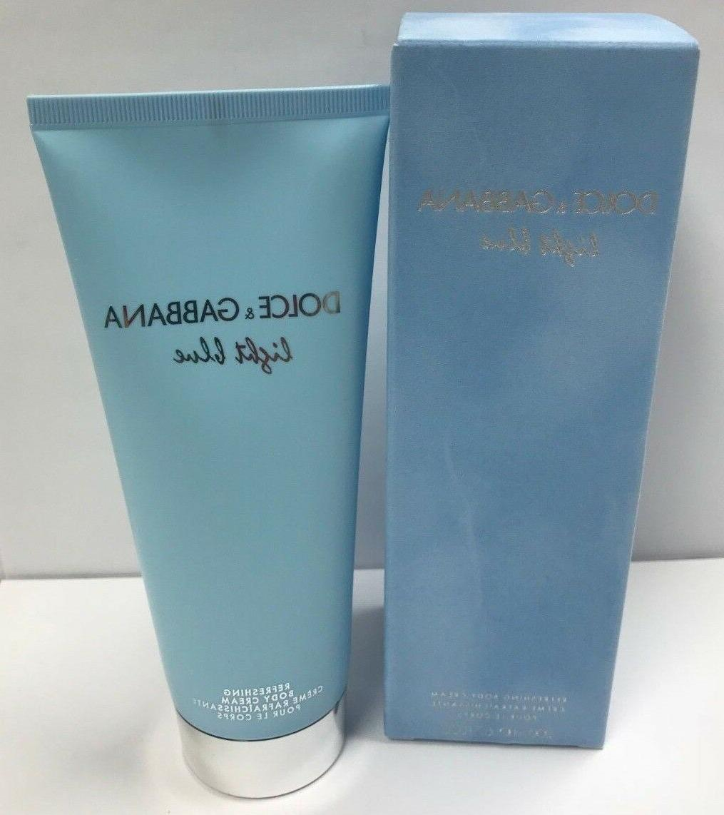 light blue body cream refreshing by dolce