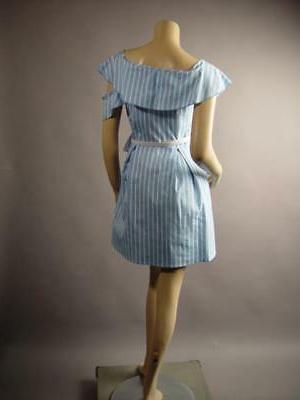 Light Blue Vertical Stripe and Bow 260
