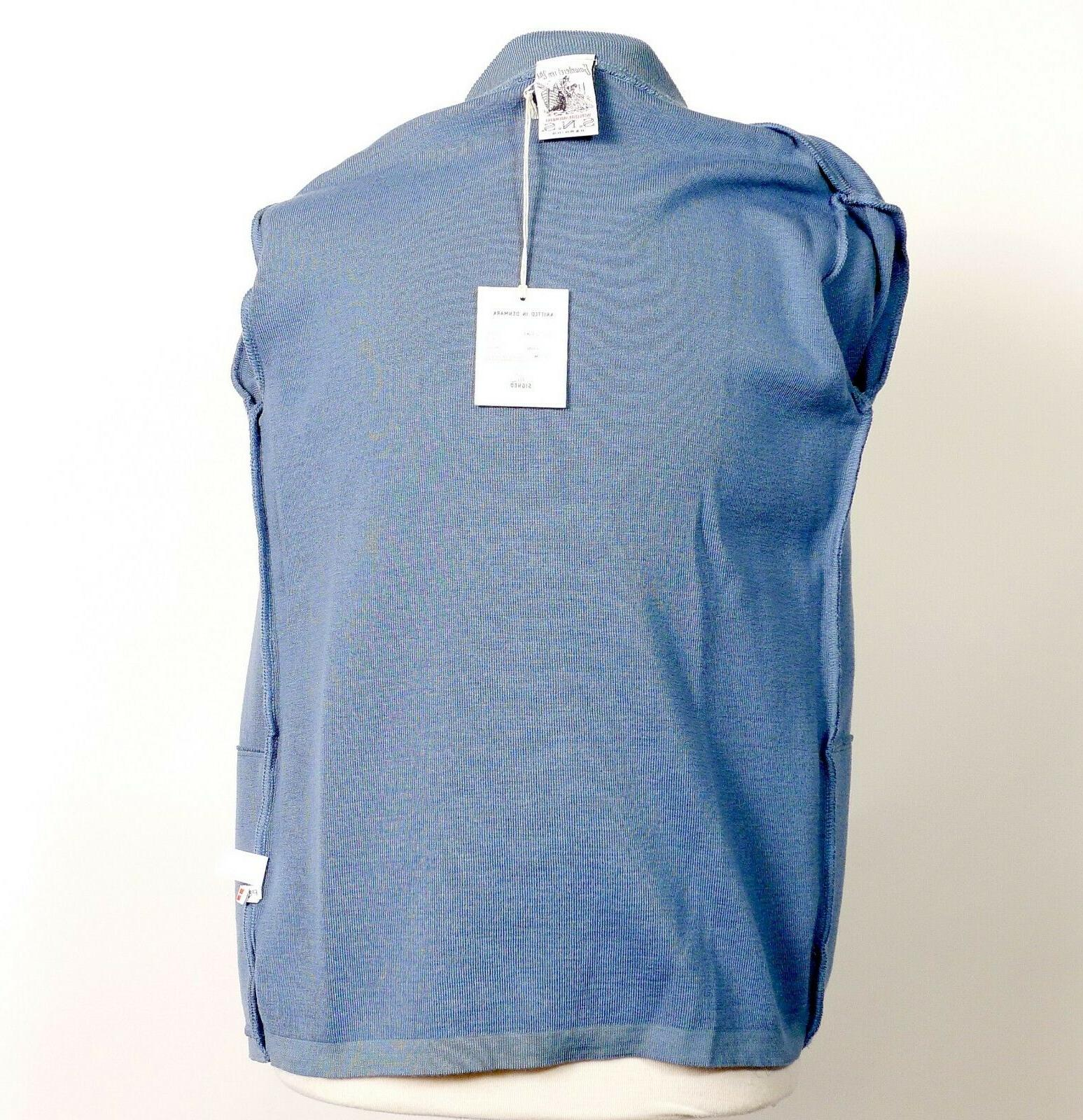 SNS Light Blue Front Crew Neck Size Medium NWT $ 250
