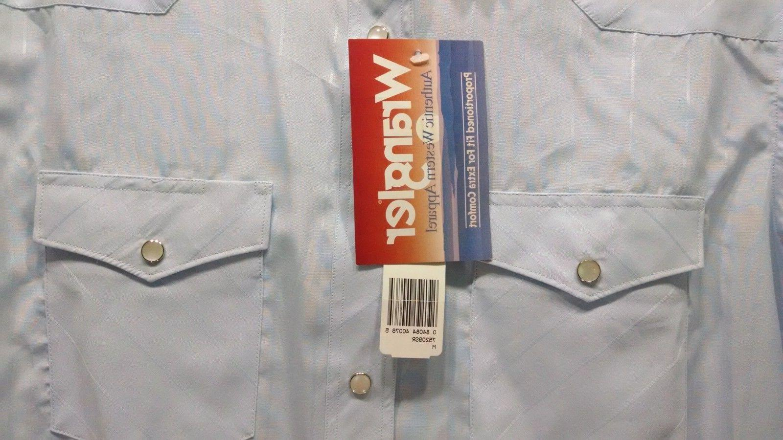 Wrangler Pearl Snap Western Shirt Size