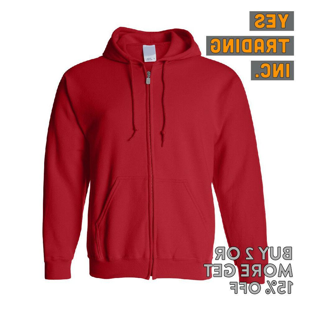 MENS FULL ZIPPER HOODED ZIP ACTIVE