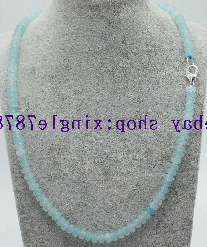 new 2x4mm light blue aquamarine faceted rondelle