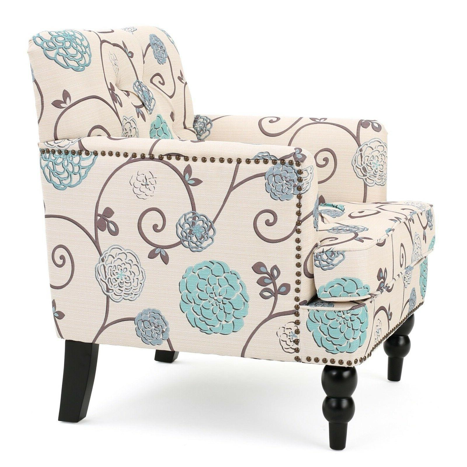 NEW Tufted Padded Living Room Club White Seat