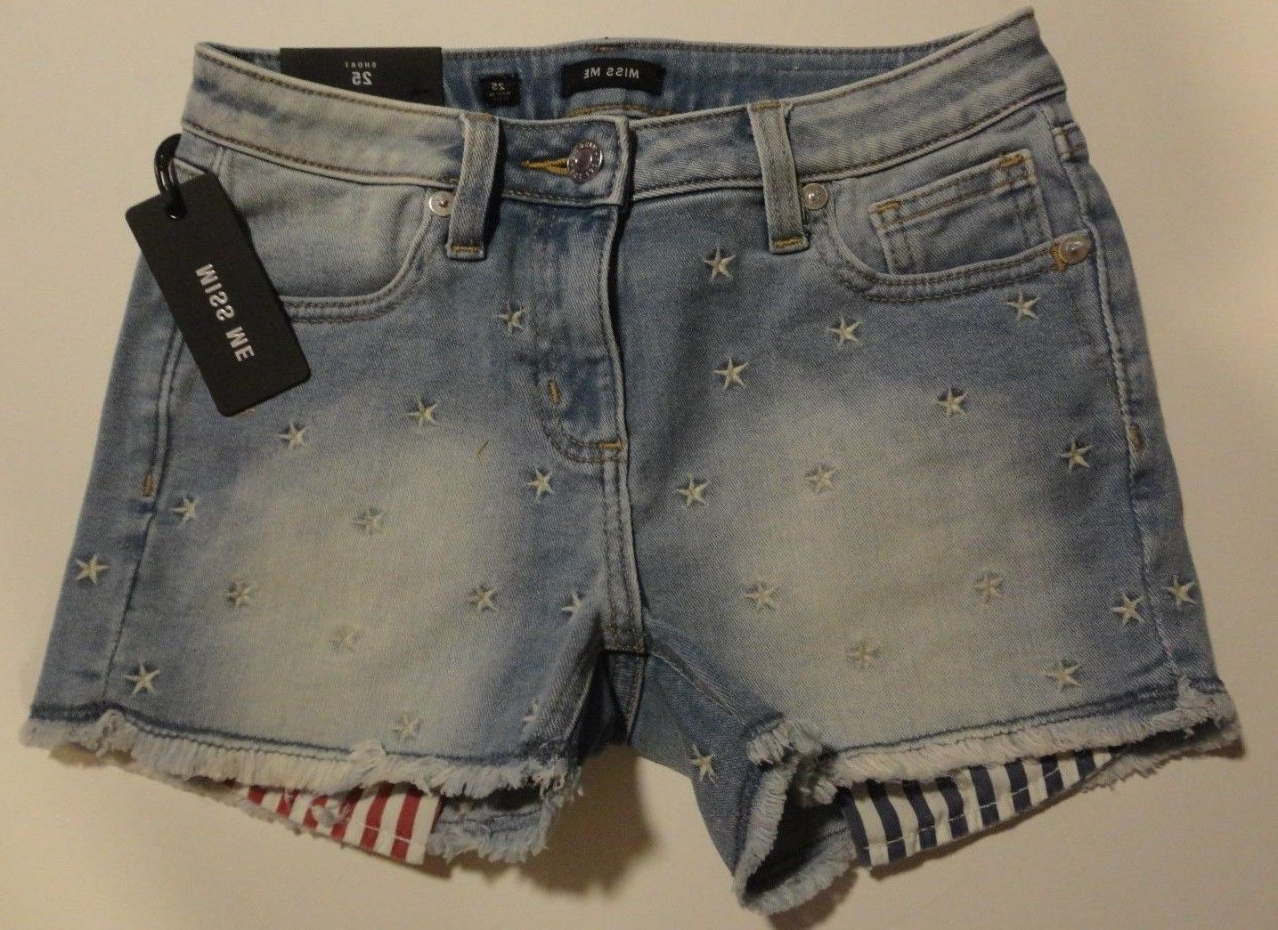 nwt star light blue jean shorts patriotic