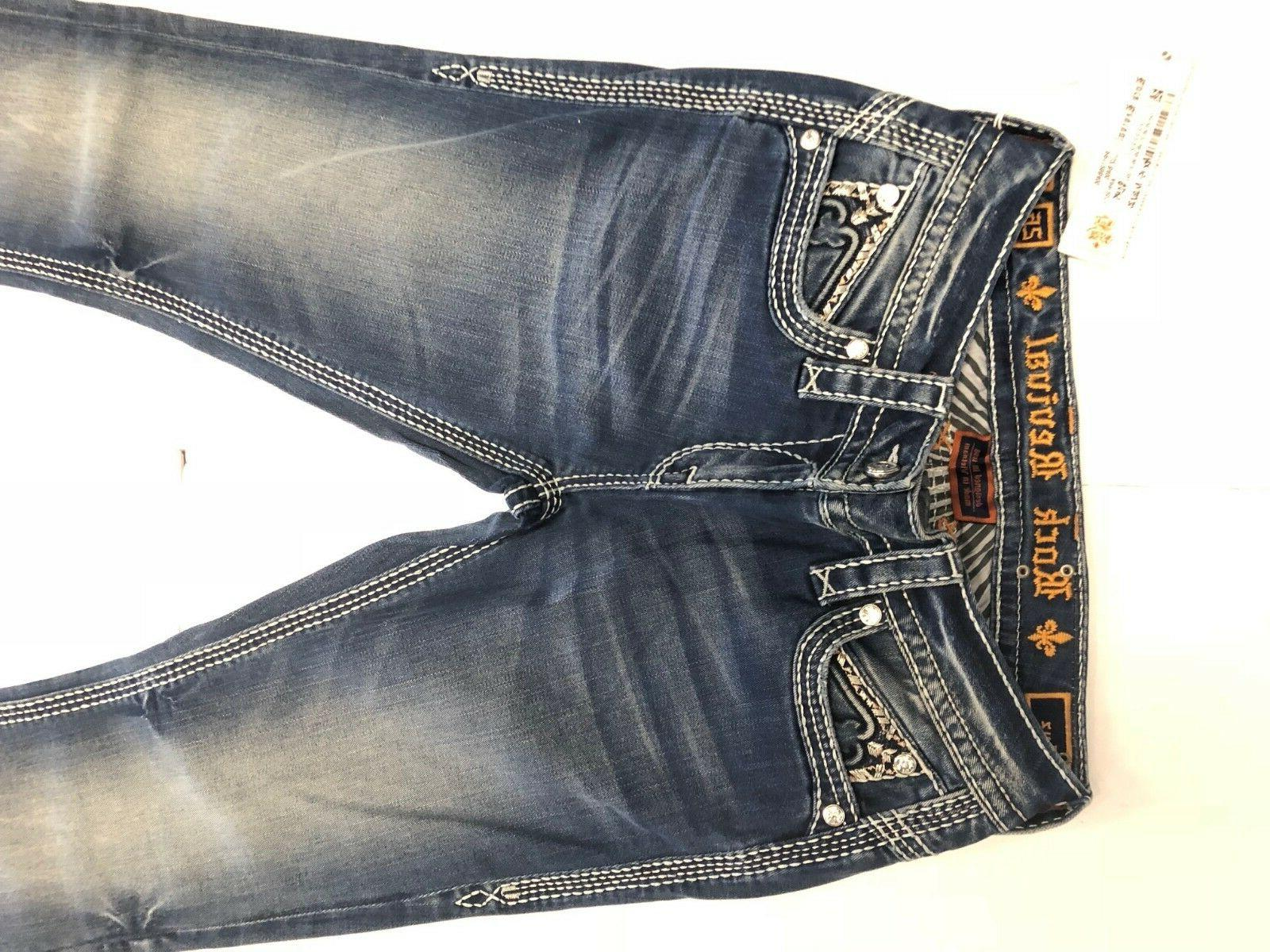 NWT Women ROCK REVIVAL JEANS LUZ 225$ LIGHT SIZE 26