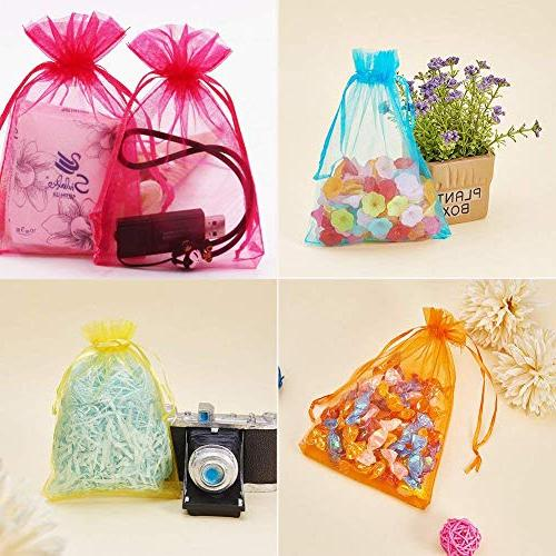 120PCS Organza Drawstring Bag Party/Game/Wedding/Christmas, Candy