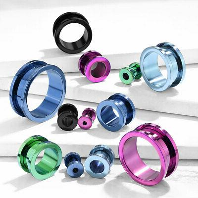 pair titanium ion plated screw fit tunnels