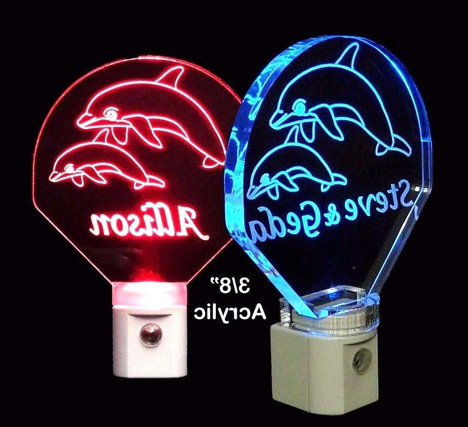 Personalized Dolphin LED Night Light - Custom with Name, Ani
