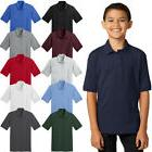 Port & Company Youth Polo T Shirts Short Sleeve Jersey Blend