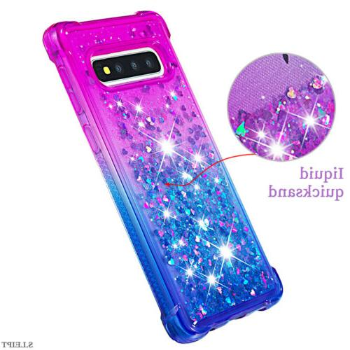 For Samsung Galaxy S9 S10 Plus Phone Case Glitter Soft Rubber