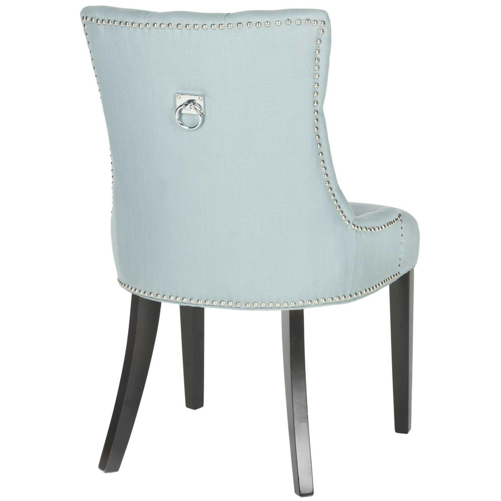 SET OF Blue Accent Tufted Chair Seat