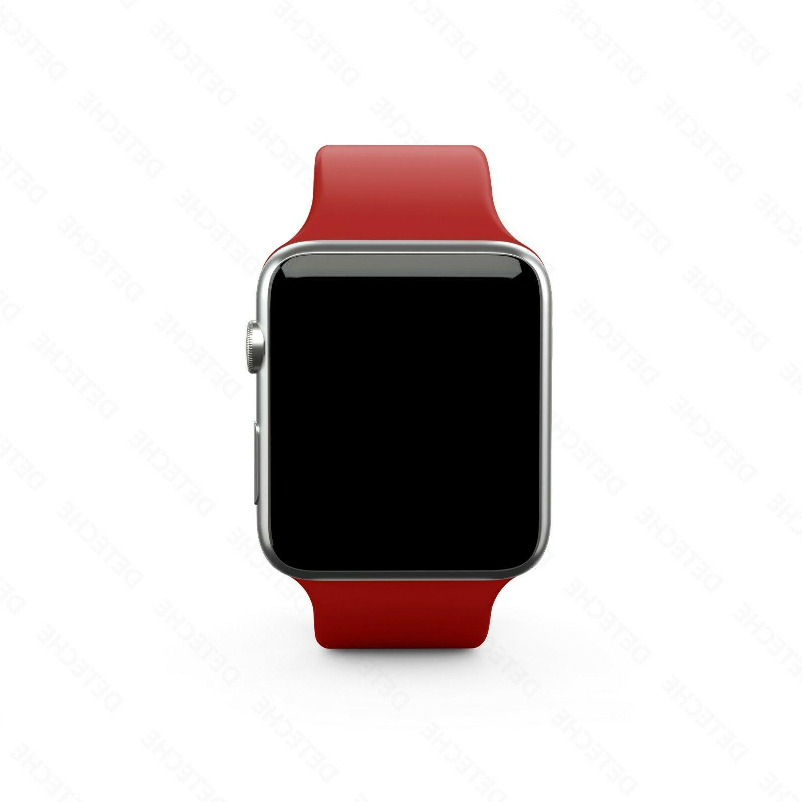 Silicone Band Strap Apple Watch Sports 38/40/42/44mm