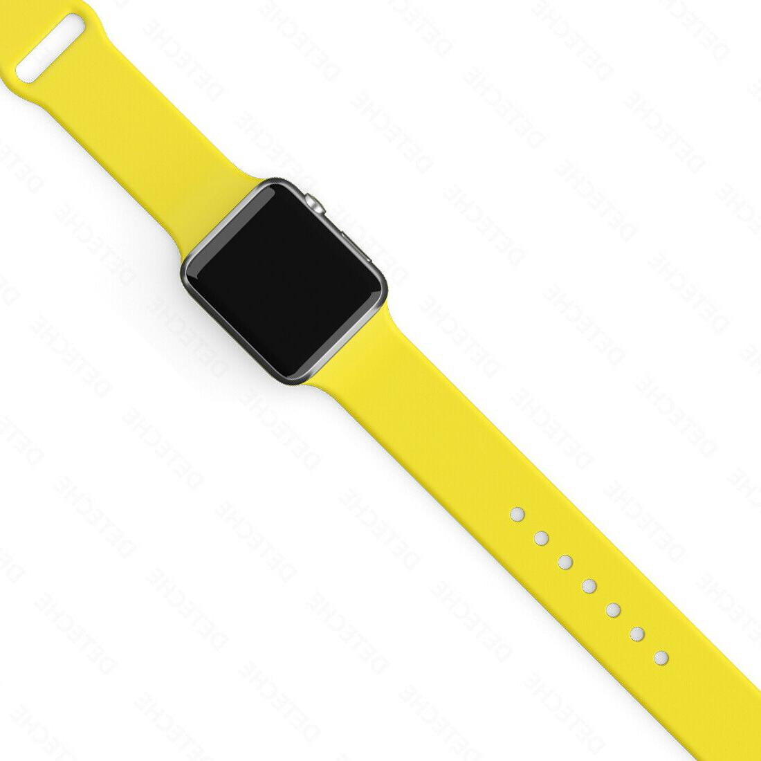 Silicone Band Apple Watch Series 1/2/3/4/5/6/SE Sports 38/40/42/44mm