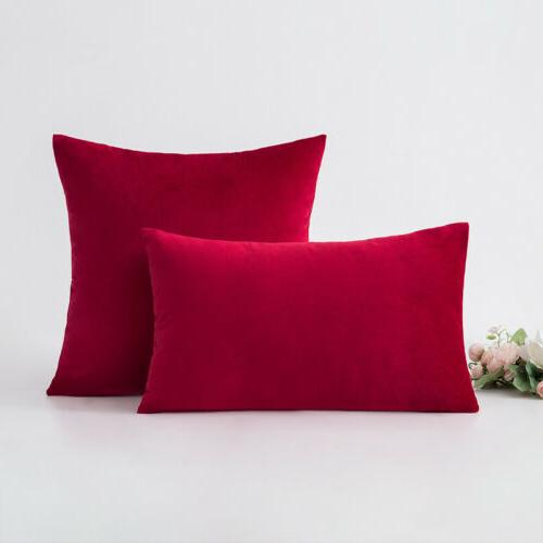Soft Velvet Throw Cushion Cover Home Sofa 18""