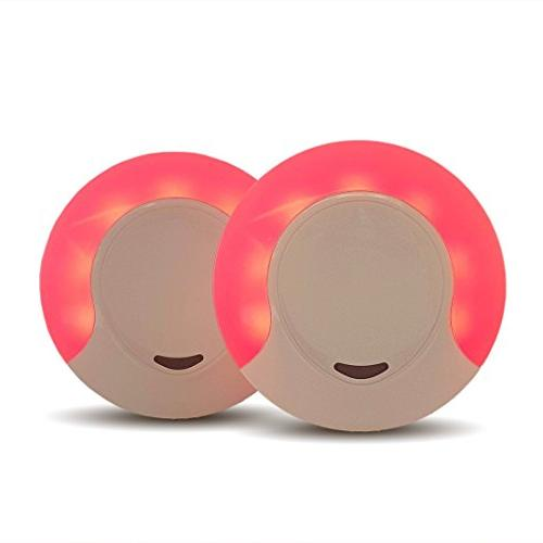 Sleep Aid Red LED Night Light for Bedroom with Dusk to Dawn Auto Sensor,  Low Blue LED Promotes melatonin Production and Healthy Sleep, ON-Off-Auto
