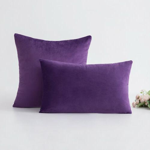 Soft Velvet Cushion Cover Pillow Cover Home Decor 2Set 18""