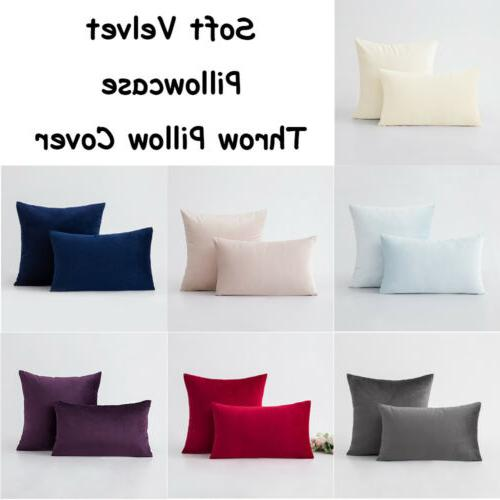soft velvet throw cushion cover pillow cover