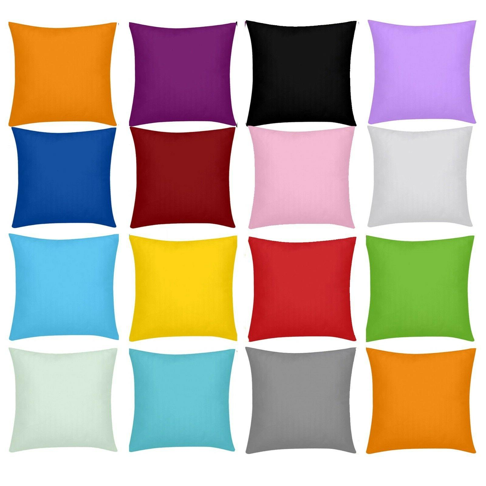 solid color cushion cover square throw pillow