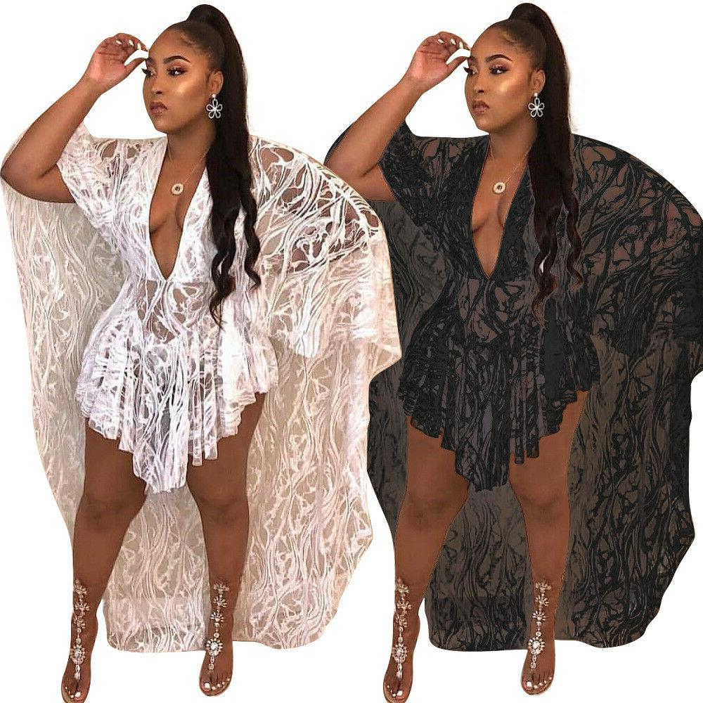 summer women v neck sexy sheer lace
