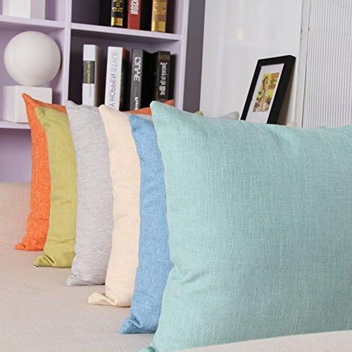 MRNIU of 2 Cushions Fine Faux Home Case Covers with for Chair No Insert Outdoor Home Decor