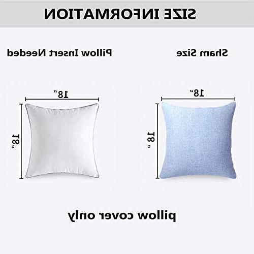 MRNIU Set of 2 Throw Cushions Home Soft Case Covers for Chair Insert Indoor Decor
