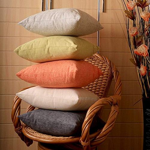 MRNIU Set of Throw Covers Cushions Case with Zipper for Insert Outdoor Indoor Decor