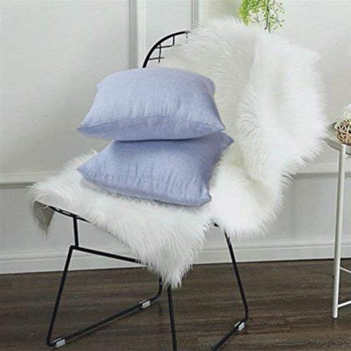 MRNIU of Throw Covers Cushions Home Decorative Case with Zipper for Insert Indoor Decor