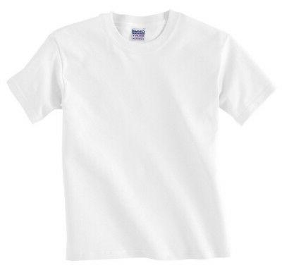 toddlers short sleeve taped neck heavy 100