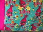 TRAVEL SIZE PILLOW CASE 2 SIDE TROLLS-POPPY MAGENTA BACK AND