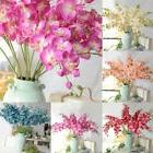US Artificial Silk Butterfly 8 Heads Orchid Flowers Bouquet