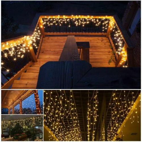 US Indoor Outdoor Icicle Lights Decor String