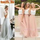 US Women Long Tutu Skirt Tulle Elastic Waist Maxi Ball Petti