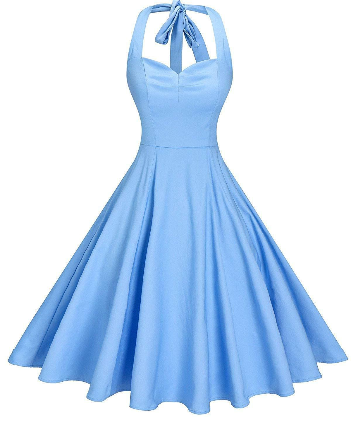 V fashion 50s Halter Swing