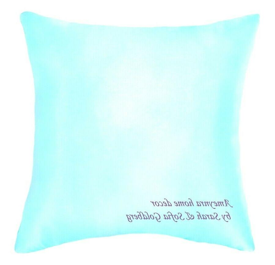 very light blue satin pillow cover size