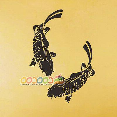 wall decor decal sticker removable koi fish