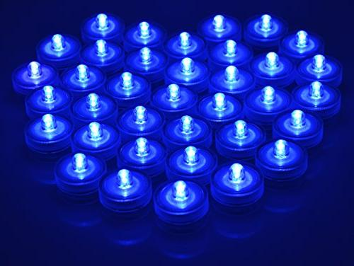 Waterproof Submersible LED Tea Lights Underwater Battery Sub Lights for Wedding