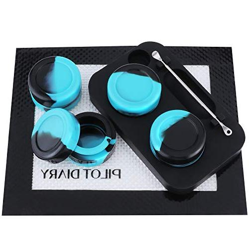 Pilot Kit Silicone 5ml + Silicone Jar Stand Wax + Nonstick Mat x -