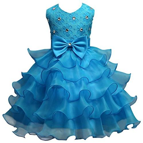 wedding party dress pageant ruffles