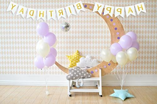 White Party Garland Felt Letters for Happy Decor Flags as Ornaments Personalized Occasion