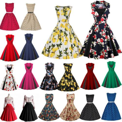 women 50s vintage style pinup swing evening