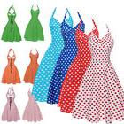 Women Dot Swing 50s 60s Retro Housewife Pinup Rockabilly Par