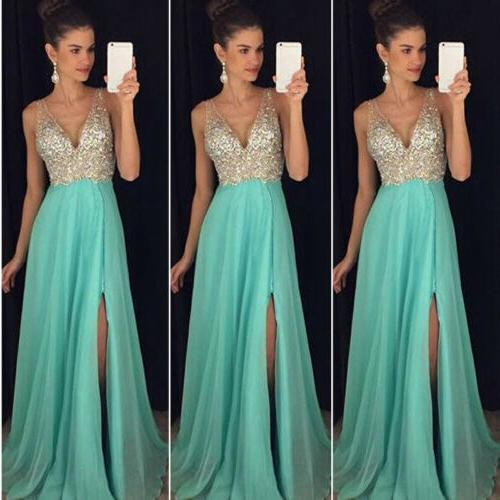 Women Formal Evening Prom Gown Long