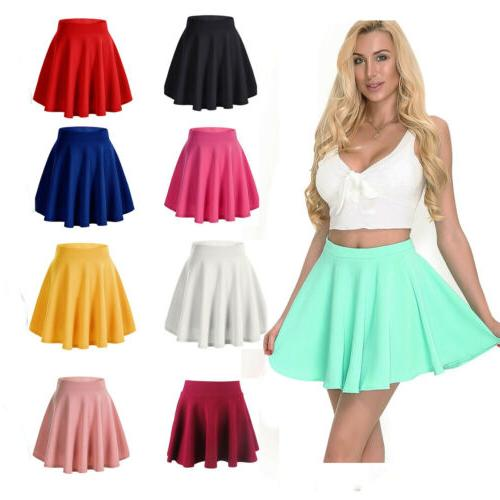 women girls skater skirt pleated flared a