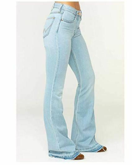 women jeans high rise flare 30x34 bell