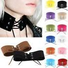 women lace up gothic punk choker vintage
