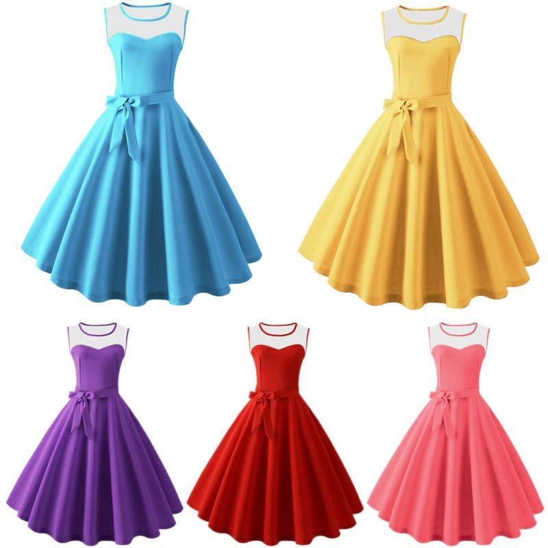 Women's 50s 60s Vintage Pinup Swing Party Rockabilly