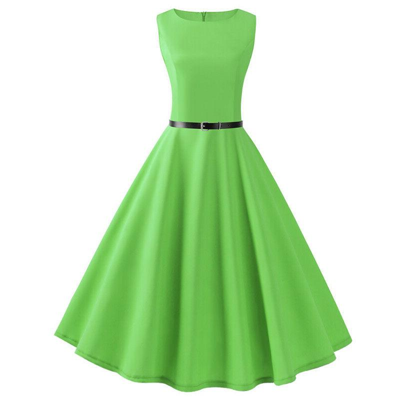 Women's 60s Pinup Plain Swing Party