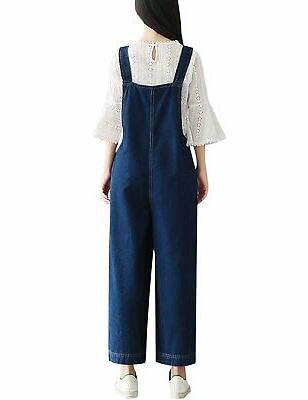 Yeokou Women's Loose Wide Jumpsuit Overalls Pant